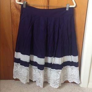 Loft Lace A-Line Skirt